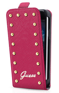 GUESS Studdes Flip case iPhone 5/5S Pink