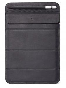 Decoded Leather Foldable iPad 2019 sleeve Zwart