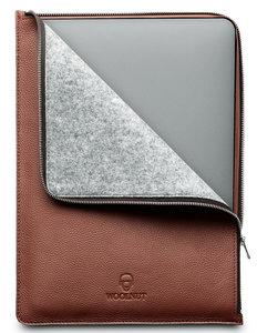 Woolnut Leather Folio MacBook Pro 16 inch hoesje Cognac