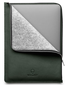 Woolnut Leather Folio MacBook Pro 16 inch hoesje Groen