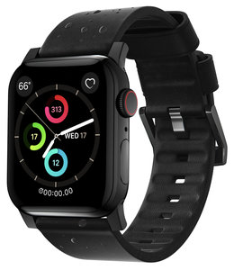 Nomad Active Leather Apple Watch 44 / 42 mm bandje Zwart