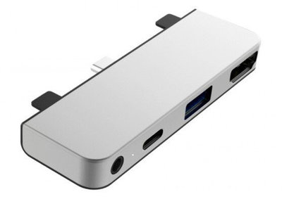 HyperDrive USB-C Mobile iPad Pro 4 in 1 hub met HDMI Zilver