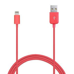 Puro Lightning naar USB kabel Pink 1 meter