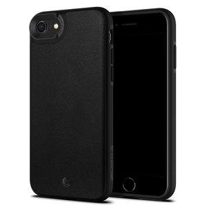 Spigen Ciel Leather iPhone SE 2020 hoesje Zwart