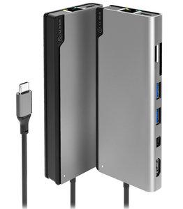 Alogic Ultra USB-C Dock Plus Grijs