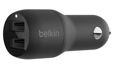Belkin BoostCharge dubbele auto oplader 24 watt Zwart