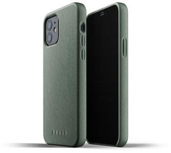 Mujjo Leather case iPhone 12 / 12 Pro hoesje Groen