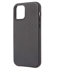 Decoded Leather Backcover iPhone 12 Pro Max hoesje Zwart