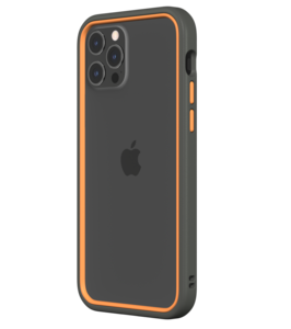 Rhinoshield CrashGuard NX iPhone 12 Pro / iPhone 12 hoesje Grijs / Oranje
