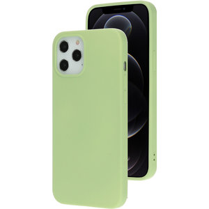 Mobiparts Silicone iPhone 12 Pro / iPhone 12hoesje Groen
