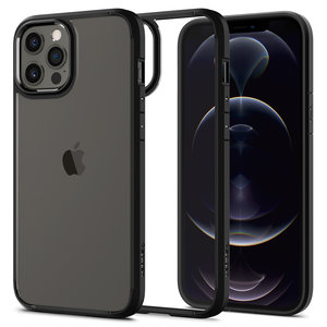 Spigen Crystal Hybrid iPhone iPhone 12 Pro Max hoesje Zwart