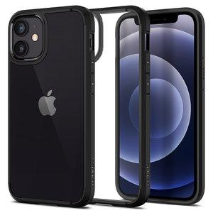 Spigen Crystal Hybrid iPhone iPhone 12 mini hoesje Zwart