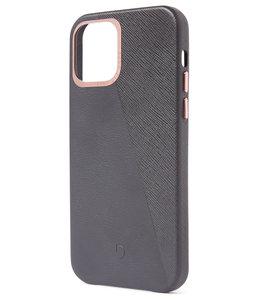 Decoded Leather Split Backcover iPhone 12 Pro / 12 hoesje Grijs
