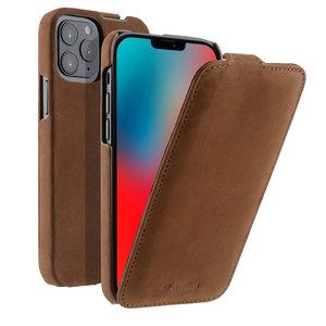 Melkco Leather Jacka iPhone iPhone 12 mini hoesje Bruin