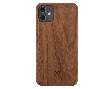 Woodcessories Houten Slim bumper iPhone 12 mini hoesje Walnut