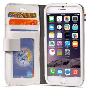 the latest 16eb4 1e066 Decoded Leather Wallet case iPhone 6/6S White