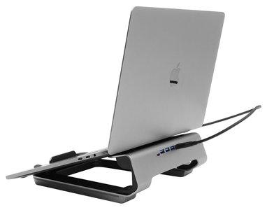 Macally mhubstand aluminiumlaptop stand met USB hub