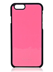 Knomo Leather Snap case iPhone 6 FluPink