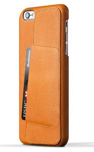 Mujjo Leather Wallet 80 case iPhone 6 Plus Tan