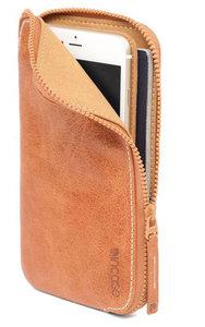 Incase Leather Zip Wallet iPhone 6 Plus Tan