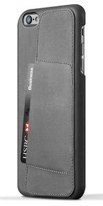 Mujjo Leather Wallet 80 case iPhone 6 Plus Grey