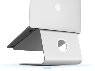 RainDesign mStand 360 draaibare MacBook standaard Zilver