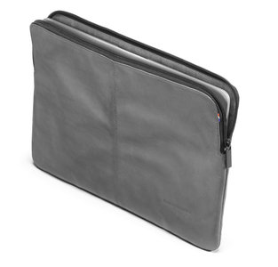 Decoded Leather Zipper Sleeve 13 inch Grey