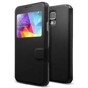 Spigen Flip View case Galaxy S5 Black