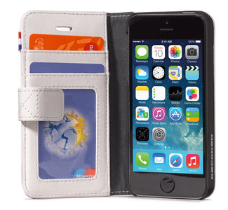 Decoded Leather Wallet case iPhone 5/5S White