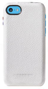 Decoded Leather Flip case iPhone 5C White