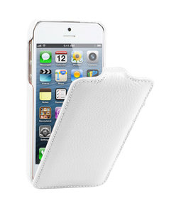 Decoded Leather Flip Case iPhone 5/5S White