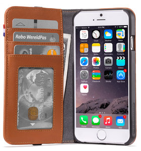 Decoded Leather Wallet iPhone SE 2020 / 8 / 7 / 6 hoesje Bruin