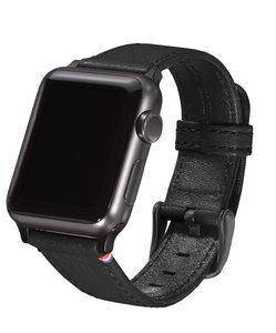 Decoded Leather Strap Watch 38 mm Black