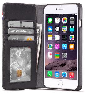 Decoded Leather Wallet case iPhone 6/6S Plus Black