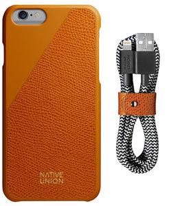 Native Union Clic Leather bundle iPhone 6/6S Gold