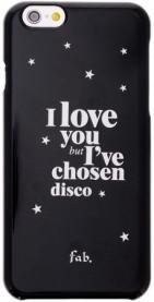 Fab Disco Glitter case iPhone 6/6S Black