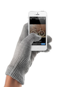 Mujjo Touchscreen Gloves Natural Gray Male