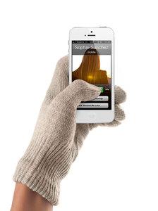 Mujjo Touchscreen Gloves Sandstone Female