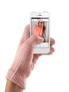 Mujjo Touchscreen Gloves Coral Pink Female