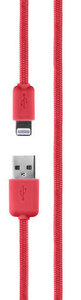 Xqisit Cotton Lightning cable 1.8 meter Red
