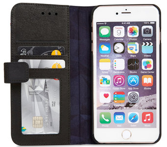 Decoded Leather Book Wallet iPhone 6/6S Plus hoesje Black