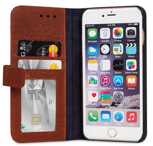 Decoded Leather Book Wallet iPhone 6/6S Plus hoesje Brown