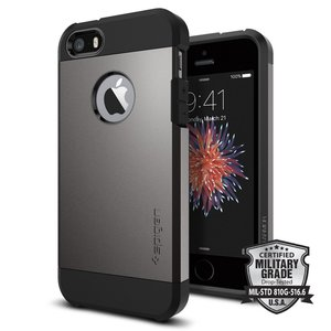 Spigen Tough Armor iPhone SE/5S hoesje Gun Metal