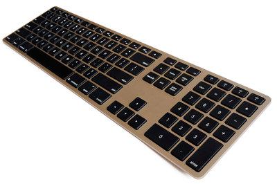 Matias Wireless Aluminium Keyboard toetsenbord Gold