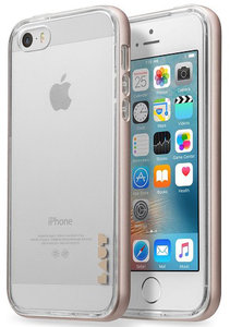 LAUT ExoFrame iPhone SE/5S hoesje Gold