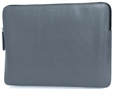 Knomo Embossed 13 inch sleeve Silver