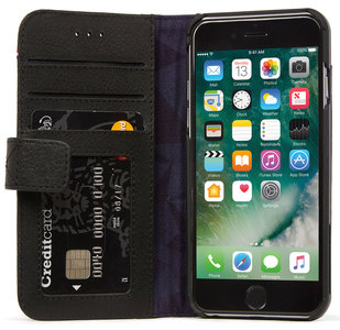 Decoded Leather Wallet iPhone 7 hoesje Black