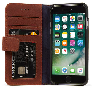 Decoded Leather Wallet iPhone 7 hoesje Brown