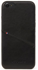 Decoded Leather Backcover iPhone 7 hoesje Black