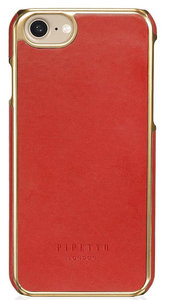 Pipetto Leather Snap iPhone 7 hoesje Red